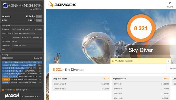 Acer A515-41G Cine 3DMark
