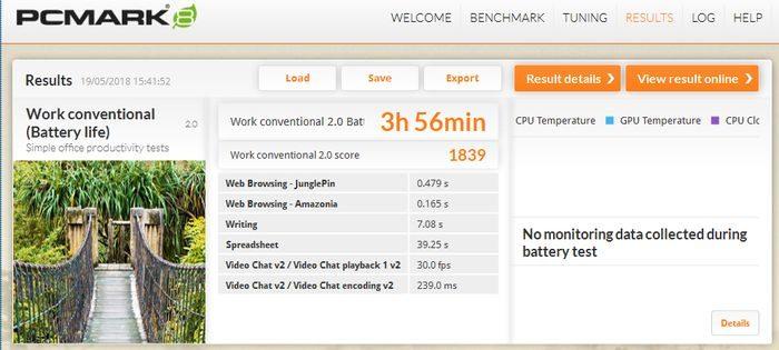 Acer A515-41G PCMark8 Batt