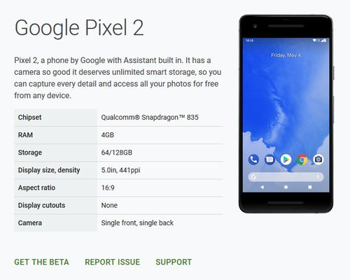 Android P Beta Compatible Devices