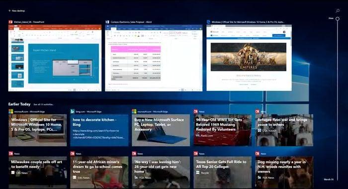 Windows 10 Fitur Timeline