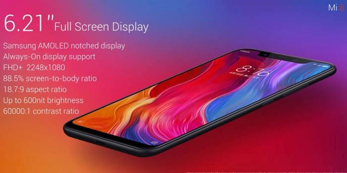 Xiaomi Mi 8 Layar