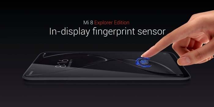 Xiaomi Mi 8 Explorer Fingerprint Sensor