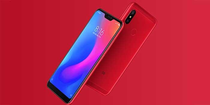 Xiaomi Redmi 6 Pro Header Red