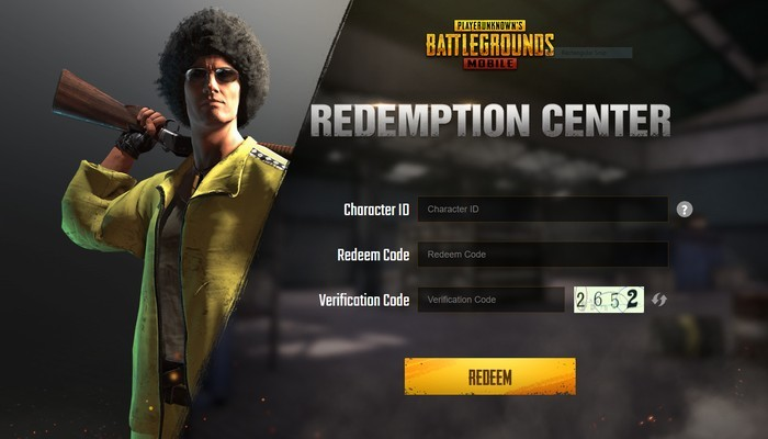 Redemption Center PUBG Mobile