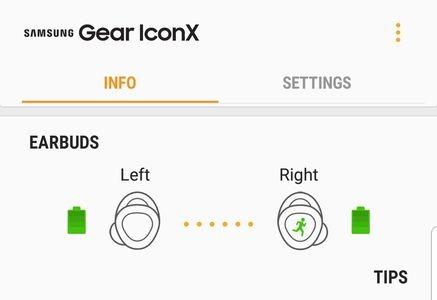Samsung Gear IconX Batery