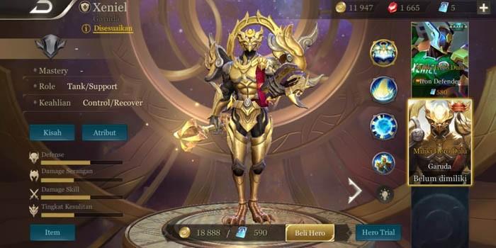 Hero AoV untuk Ranked - Xeniel