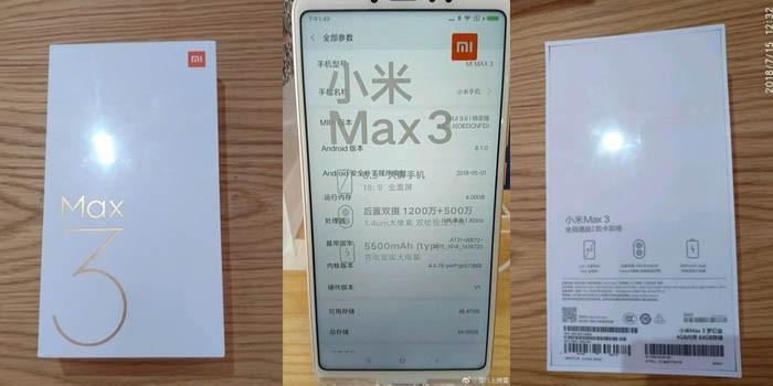 Xiaomi Mi Max 3 Header Leakz
