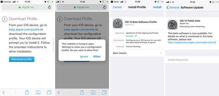 iOS 12 Public Beta Update