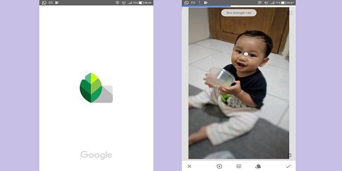 Aplikasi Bokeh - Snapseed
