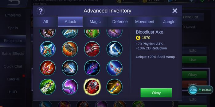 Bloodlust Axe Mobile Legends
