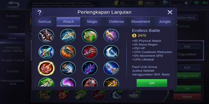 Build Alucard Mobile Legends - Endless Battle