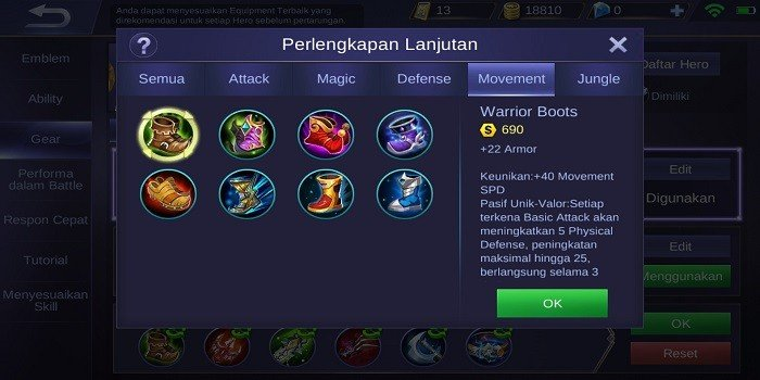 Build Alucard Mobile Legends - Warrior Boots