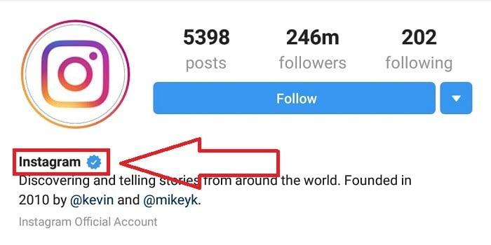 Cara Centang Biru Instagram