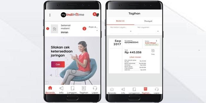 Aplikasi myIndihome untuk Cek Tagihan