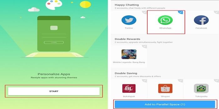 cara menggunakan clone app whatsapp