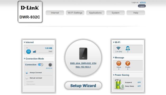 D-Link DWR-932C Software1