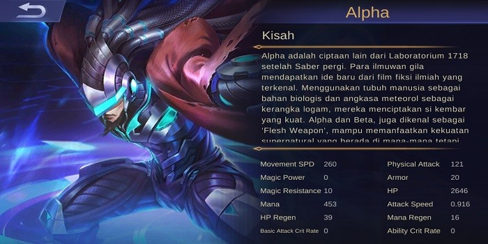 Hero Figter Terkuat Mobile Legends - Alpha