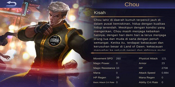 Hero Figter Terkuat Mobile Legends - Chou