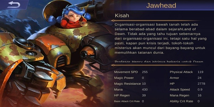 Hero Figter Terkuat Mobile Legends - Jawhead