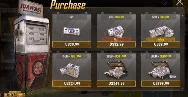 PUBG Mobile Shop Featured
