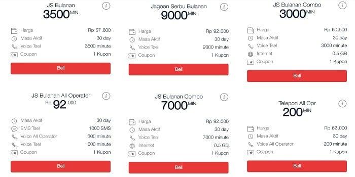Paket Nelpon Telkomsel Bulanan