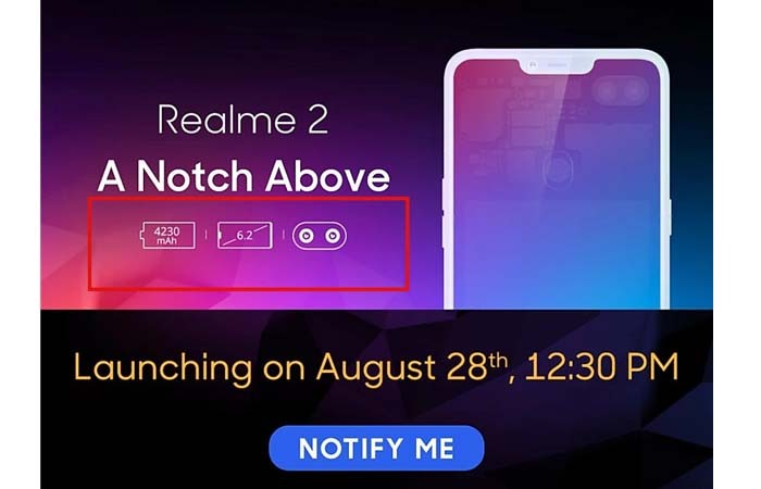 Realme 2 Leak Spec