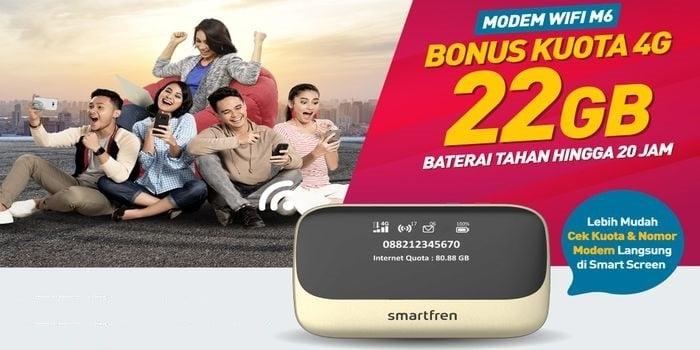 Smartfren modem WiFi M6 Header