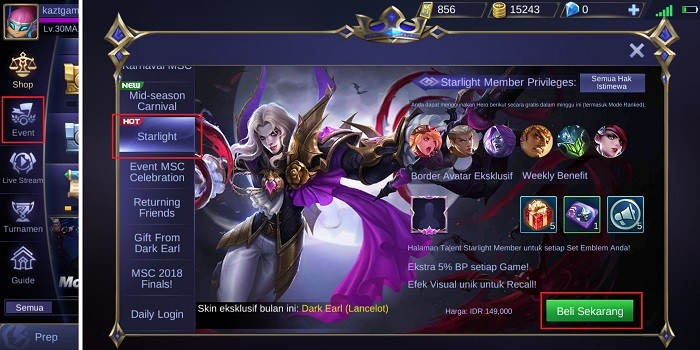 Apa Untungnya Jadi Starlight Member Di Mobile Legends Gadgetren