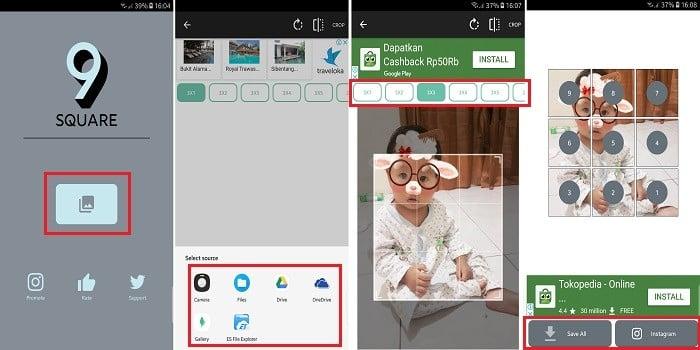 Cara Memotong Foto Untuk Diunggah Dalam Bentuk Grid Di Instagram Gadgetren