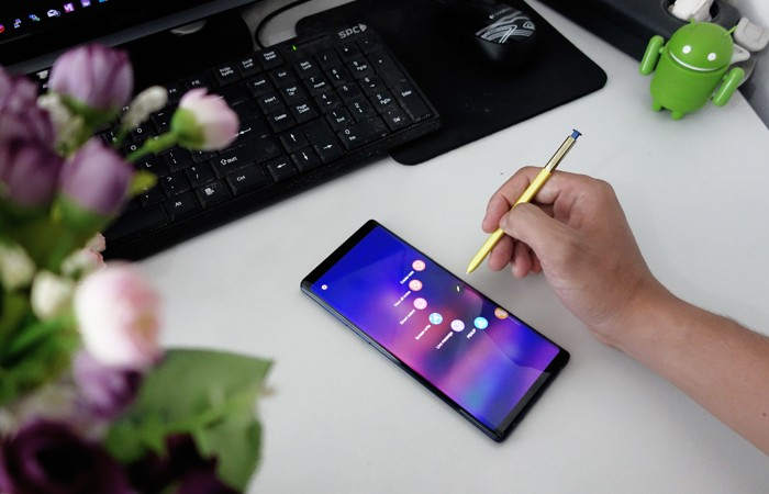 Cara Screenshoot Samsung Galaxy Note 9 dengan S Pen Air Command