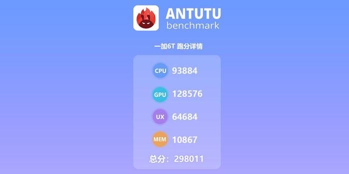 OnePlus 6T AnTuTu