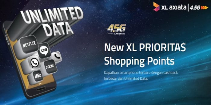 Xl Prioritas Shopping Points Paket Bundling Cashback Untuk