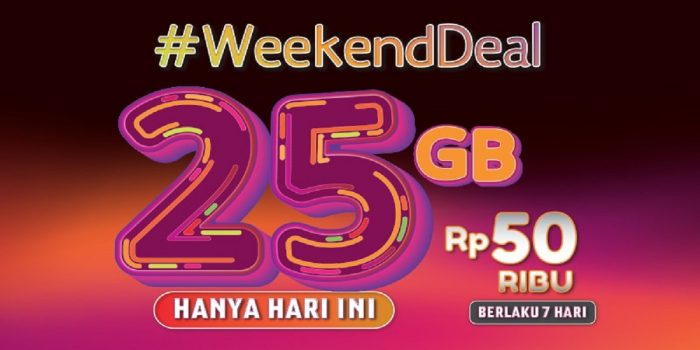 Program Weekend Deal Telkomsel Header