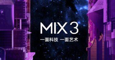 Xiaomi Mi MIX 3 Feature Leak