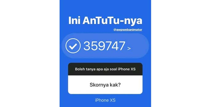 iPhone XS AnTuTu Sadis