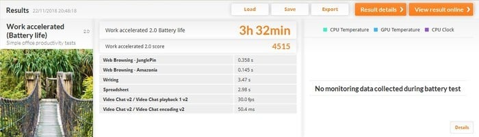 ASUS VivoBook S14 S430UN PCMark 8 Baterai