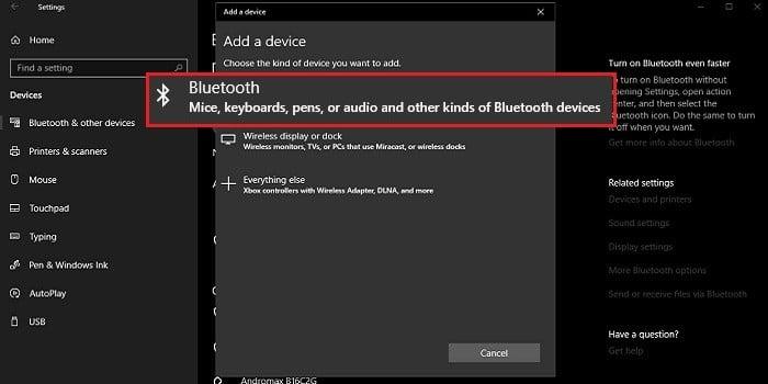 Cara Mengaktifkan Bluetooth di Laptop - Pairing