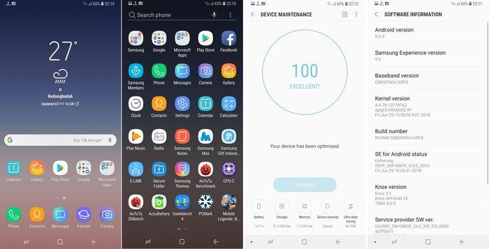 Samsung Galaxy A8 Star OS