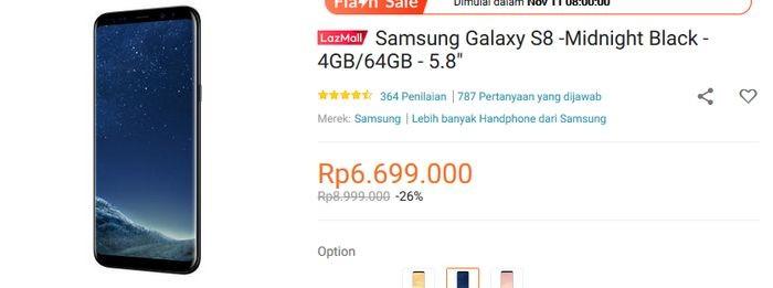 Samsung Galaxy S8 Lazada 11.11