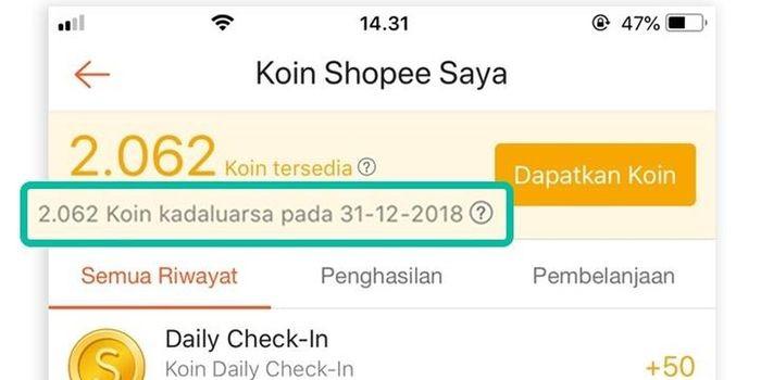 Cara Mendapatkan Koin Shopee Gratis Header