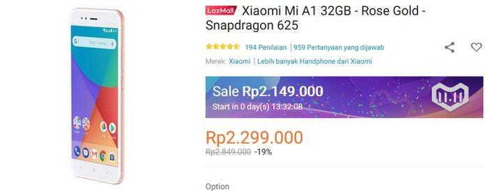 Xiaomi Mi A1 Lazada 11.11