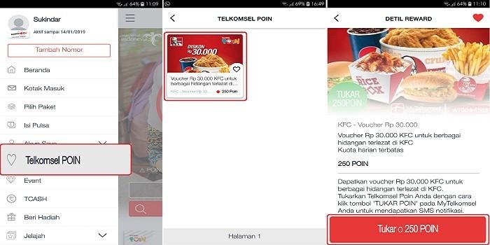 Tukar Poin Telkomsel KFC - cara