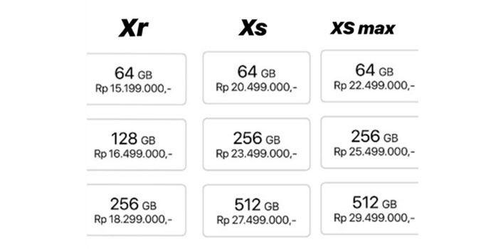 iphone xr harga