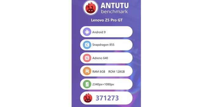 Skor AnTuTU Lenovo Z5 Pro GT