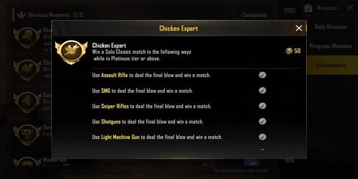Cara Mendapatkan Title di PUBG Mobile Chicken Master