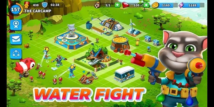 Game Mirip COC Online Offline Talking Tom Camp