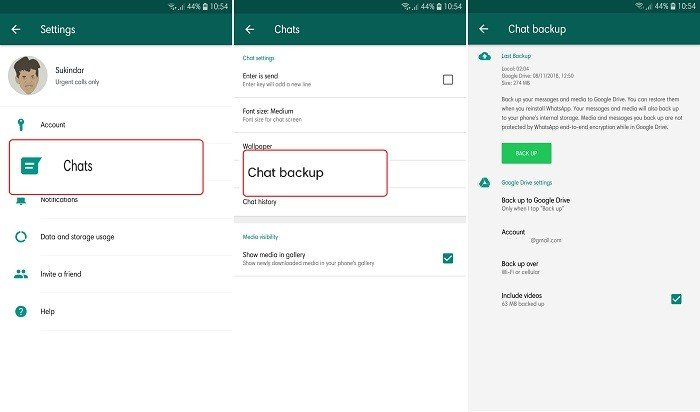 How to Move WhatsApp to a New HP - Google Drive Backup