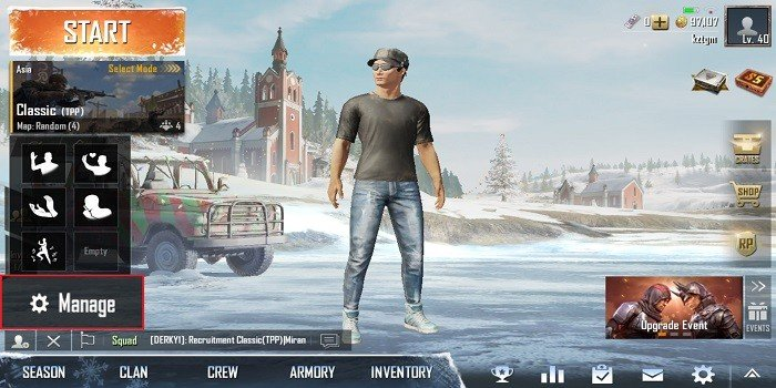 Emoticon di PUBG Mobile Setup