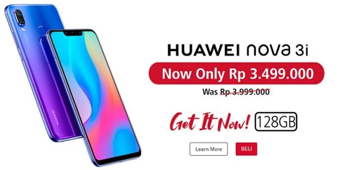 Huawei Nova 3i Turun 500ribu