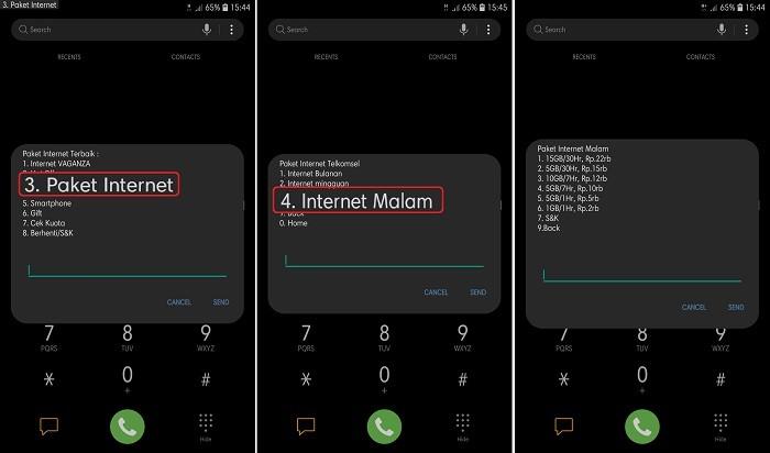 Cara daftar Paket Internet Malam Telkomsel